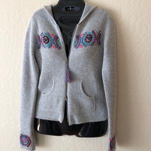 Lilu hooded angora lambswool sweater,S